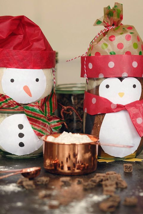 Mason Jar Christmas Crafts - Cookie Mix