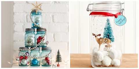 mason jar christmas crafts - How To Decorate Mason Jars For Christmas
