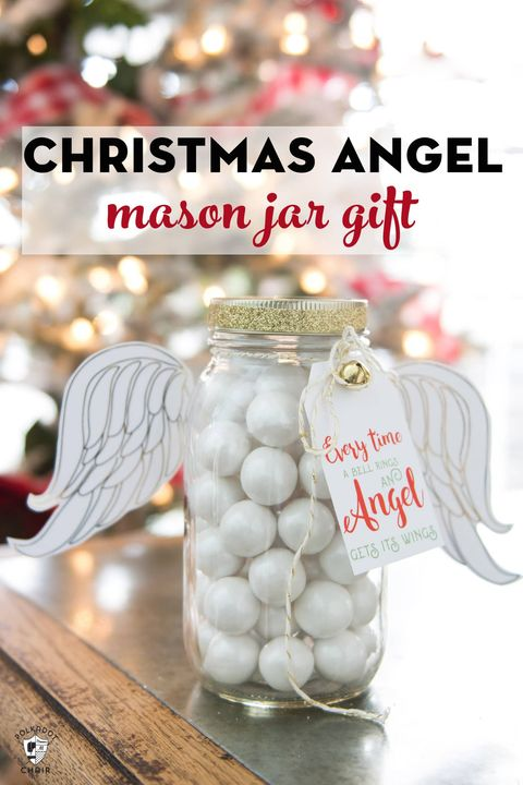 mason jar christmas crafts angel