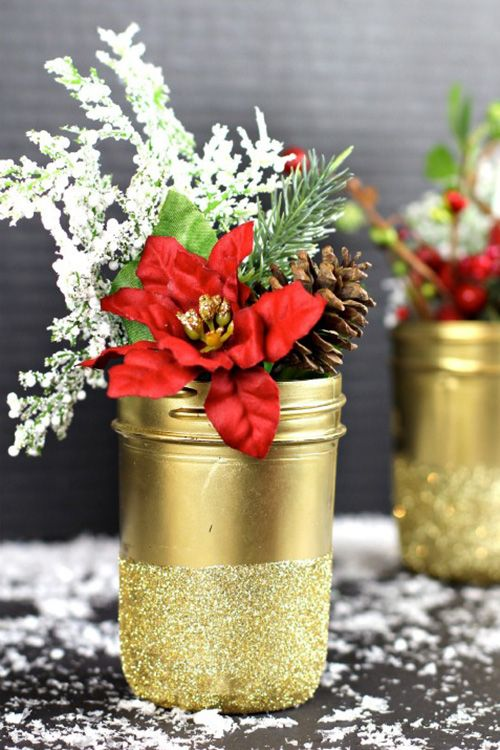 mason jar christmas crafts vases