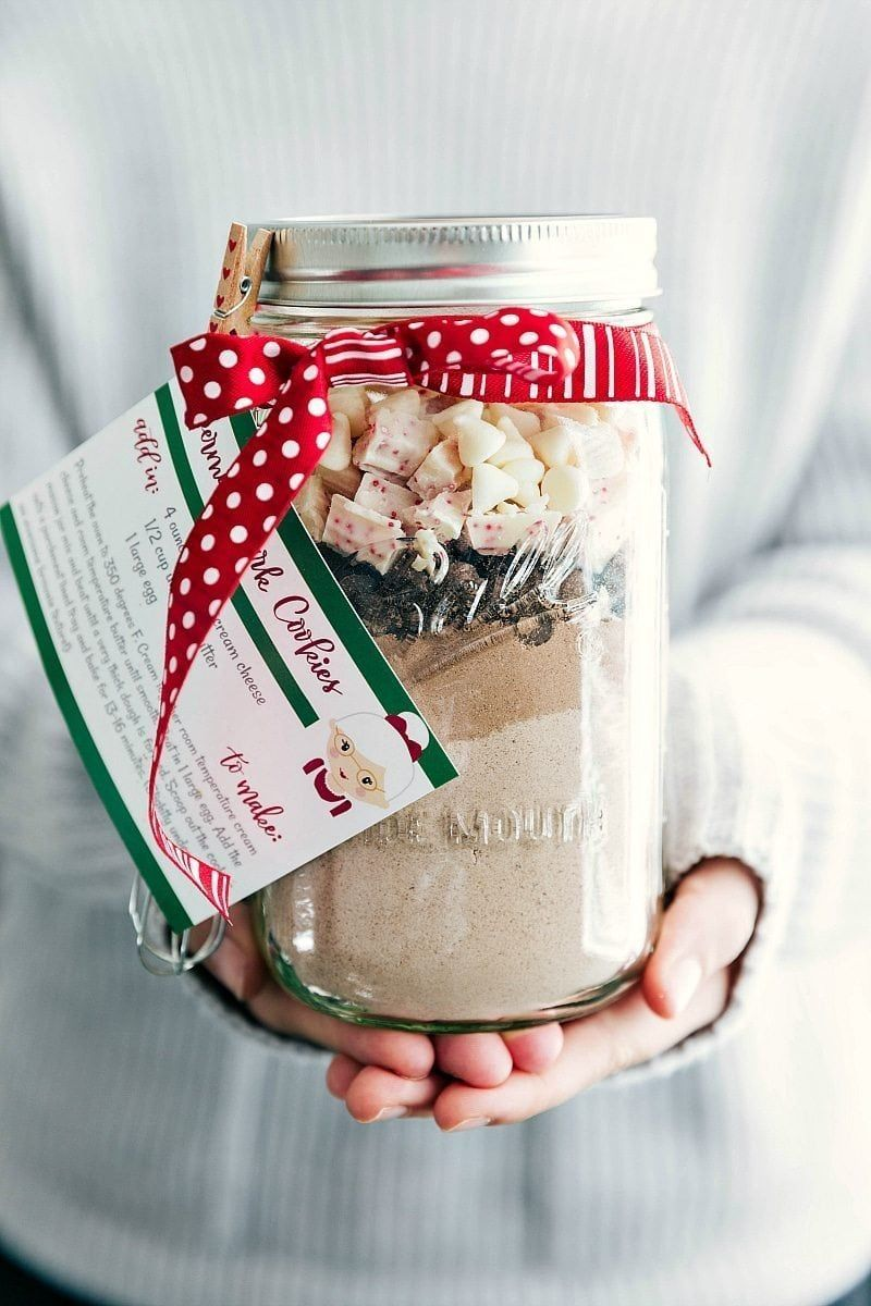 mason jar christmas crafts cookie mix