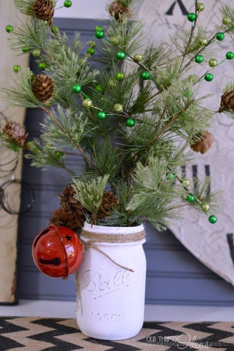 mason jar christmas crafts pine branches