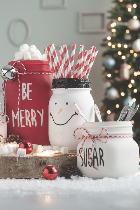 Mason Jar Crafts - Hot Cocoa Bar