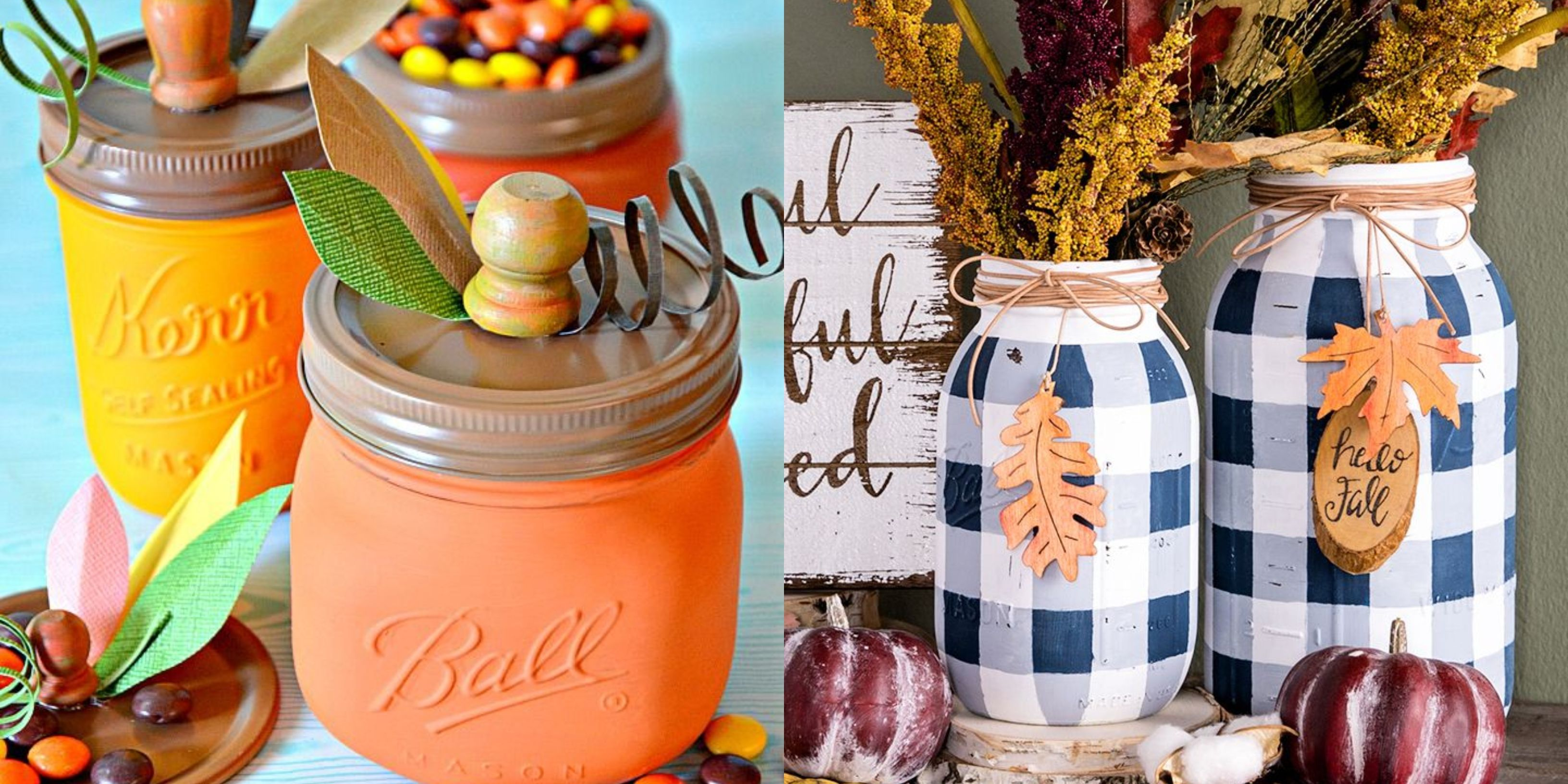 29 Mason Jar Fall Crafts - Autumn DIY Ideas with Mason Jars