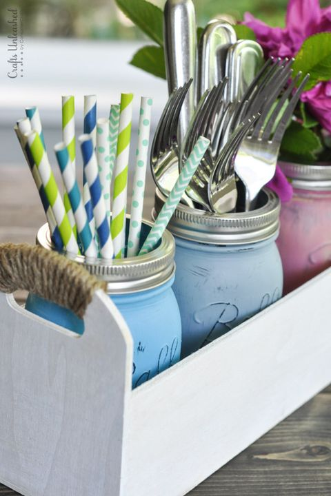 mason jar decor utensil