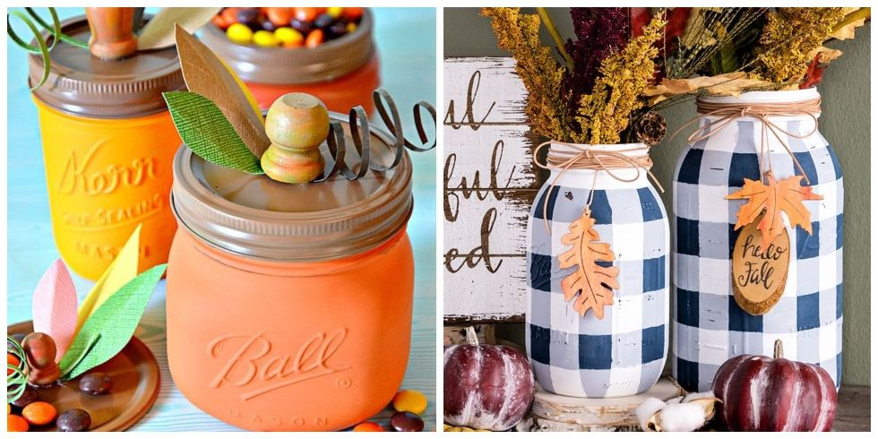easy crafts ideas 25 jar fall crafts autumn diy ideas with jars 1930