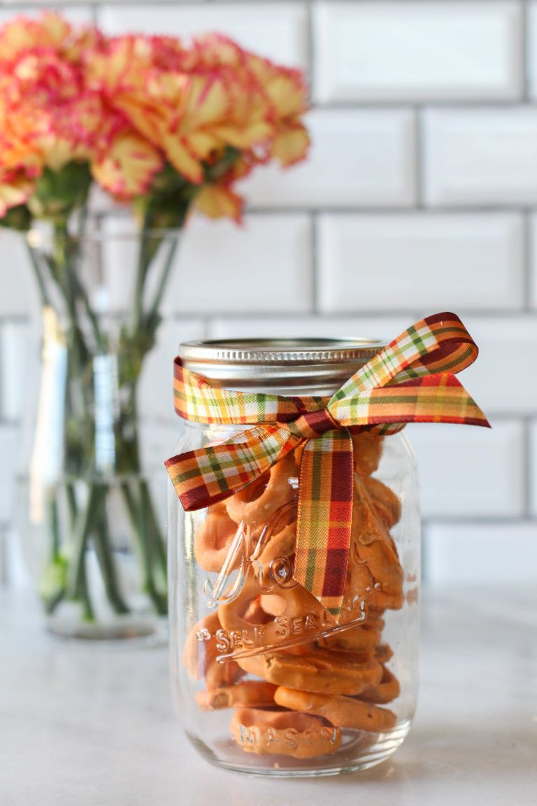fall mason jar food gift