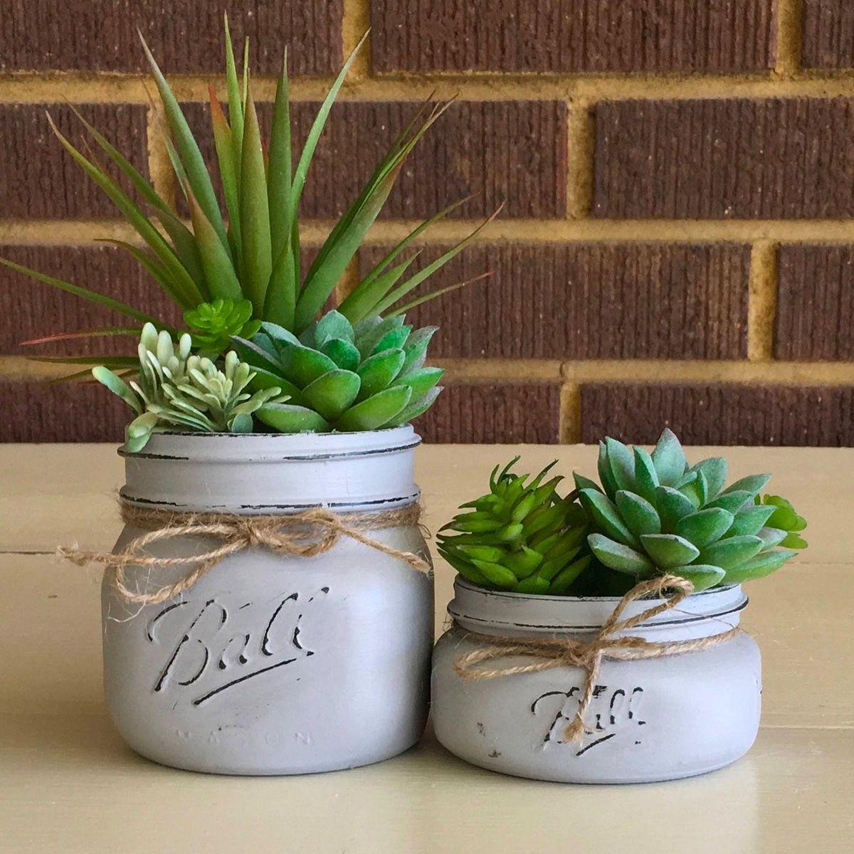 mason jar gifts planter