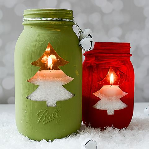 mason jar christmas tree light votive