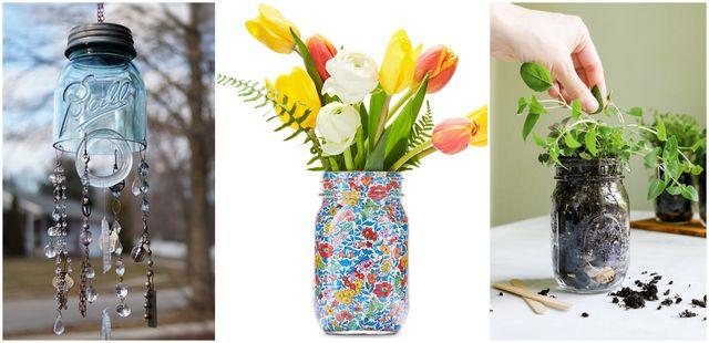 three of the mason jar ideas