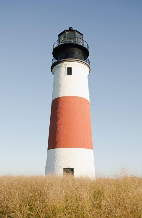 usa, massachusetts, nantucket, view of lighthouse