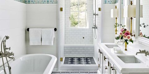 30+ Stunning White Bathrooms - How to Use White Tile and ...