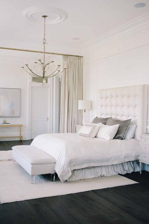 Bedroom, Furniture, Bed, Room, White, Bed frame, Bed sheet, Interior design, Mattress, Property,