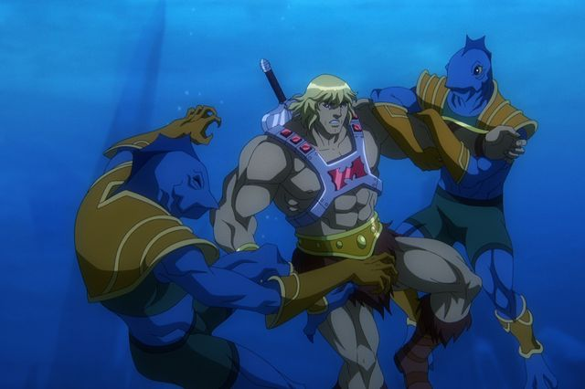 masters of the universe revelation l to r chris wood as he man in episode 103 of masters of the universe revelation cr courtesy of netflix © 2021