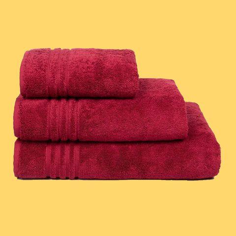 Towel, Red, Magenta, Linens, Textile, Furniture, Rectangle,