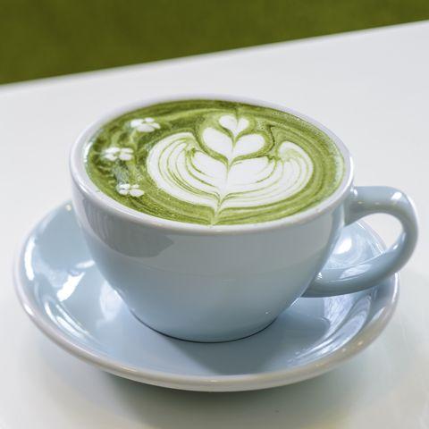 matcha coffee on table