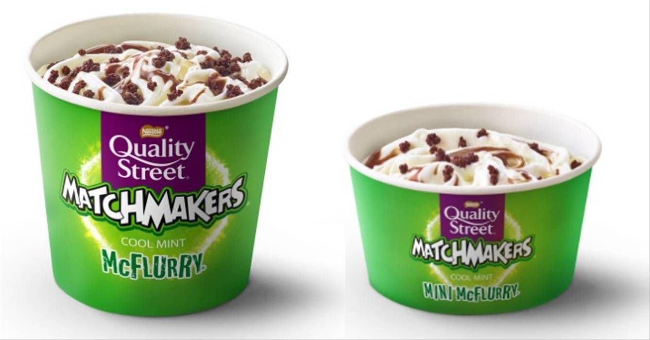 McDonald's Mint Matchmakers McFlurry Is Coming Back This Christmas