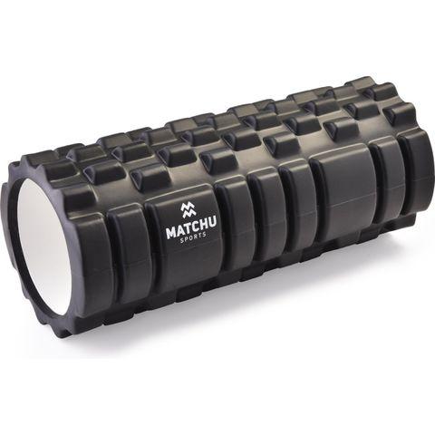 matchu sports foam roller zwart sporten blessures rollen zwart