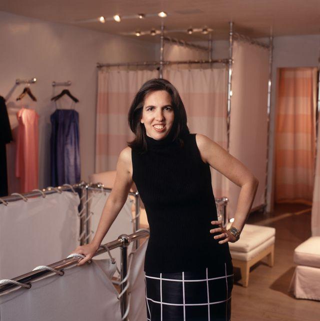 liz lange at her showroom