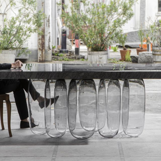 Table, Furniture, Glass, Outdoor table, Water, Iron, Chair, Flowerpot, Design, Room,