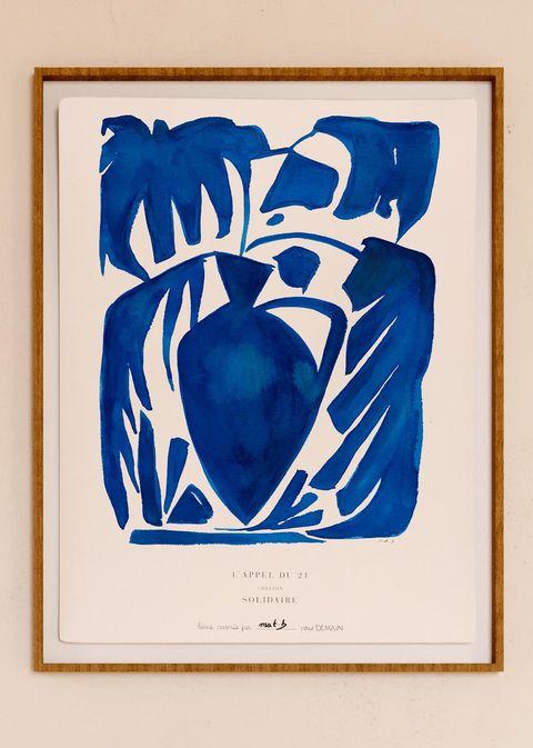 amphore bleue print by mathilde brunele for sézane