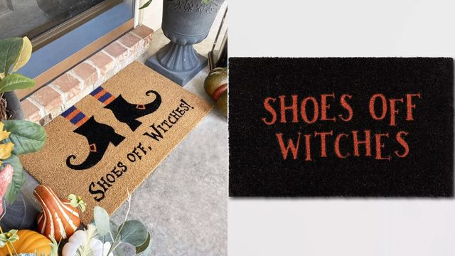 shoes off witches doormats