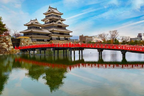 matsumoto, japan   november 21 2015 matsumoto castle, one of japans premier historic castles, along with himeji castle and kumamoto castle, its known as crow castle due to its black exterior