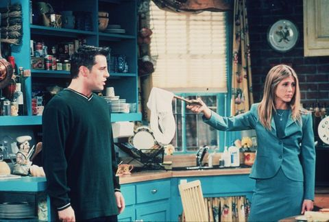 "1999 Matt Le Blanc and Jennifer Aniston star in the latest season of ""Friends."""
