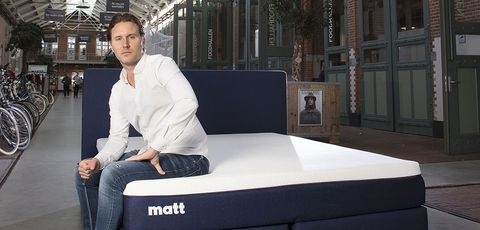 Mattress, Furniture, Bed, Sitting, White-collar worker, Box-spring,