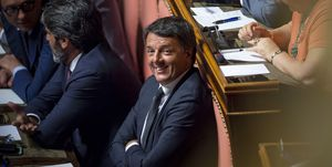 Italian Prime Minister Addresses The Senate On Government Crisis