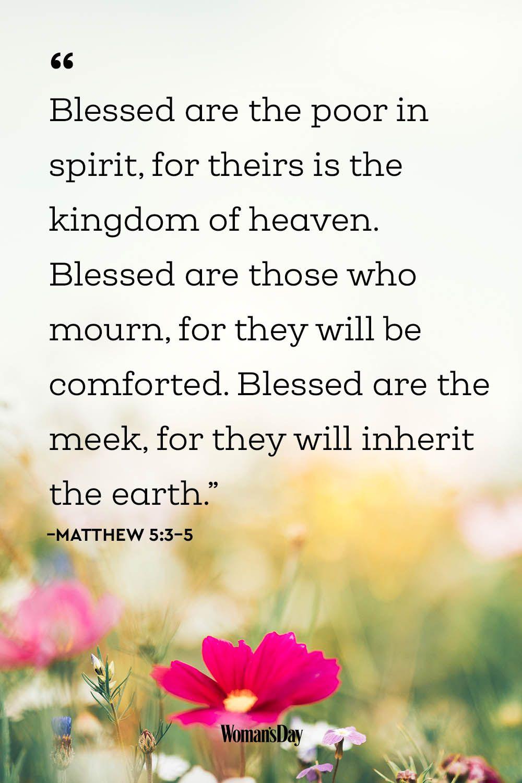 Encouraging Bible Verses - Matthew 5:3–5