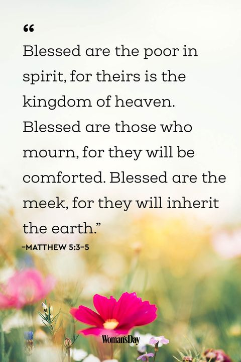 Encouraging Bible Verses - Matthew 5:3–5