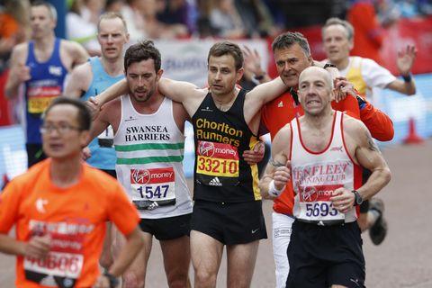 pain of running marathons