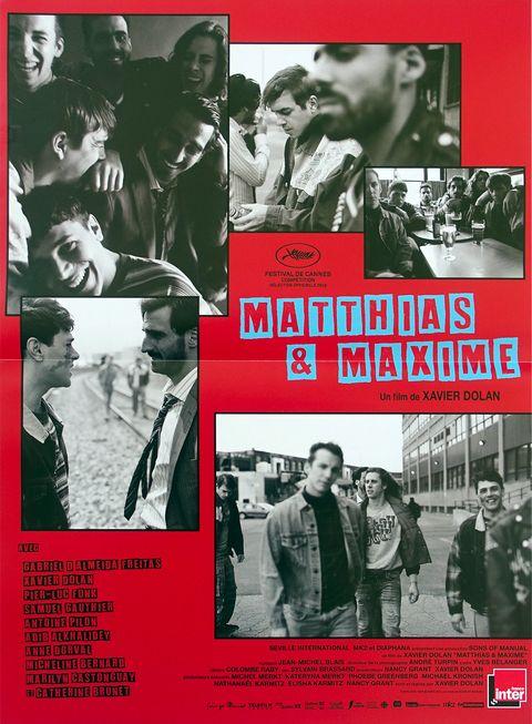 poster de la pelicula matthias and maxime en rojo