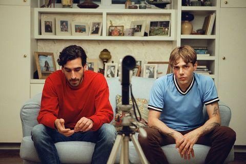 Gabriel D'Almeida Freitas and Xavier Dolan in Matthias & Maxime