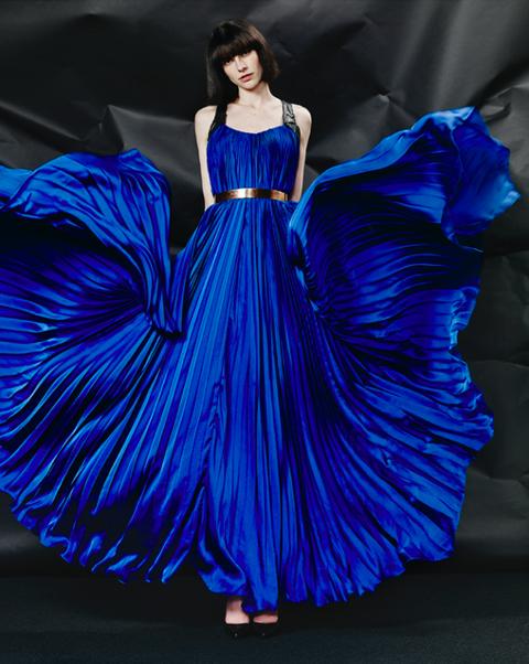 mattijs van bergen 'royal blue dress'