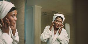 Mature woman skincare