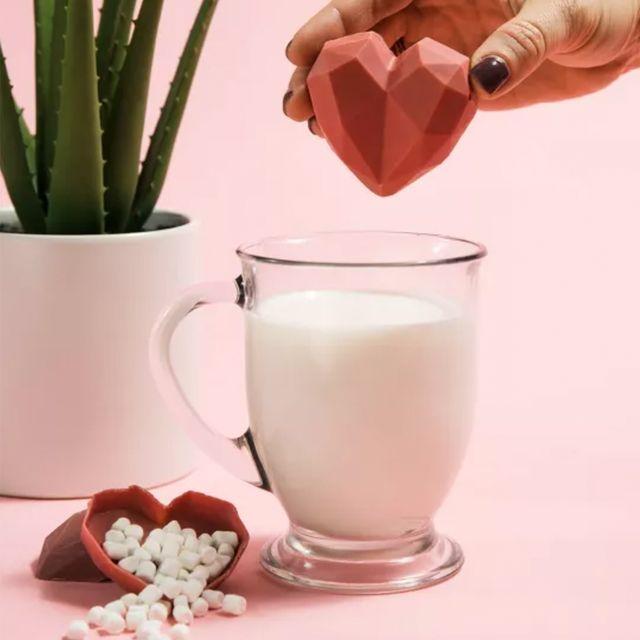 maud borup strawberries  cream hot cocoa bomb valentine's day