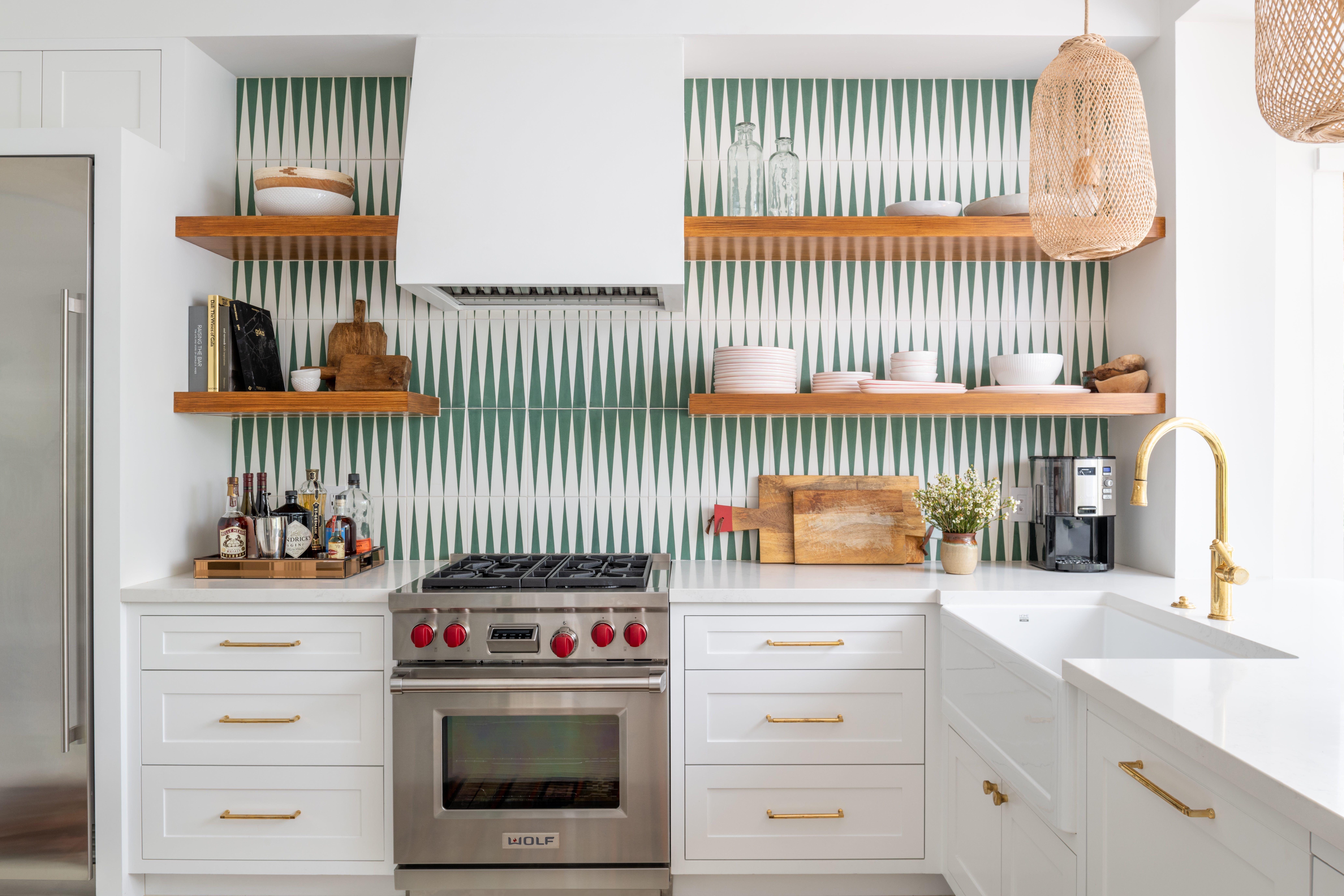 Creative Geometric Kitchen Backsplashes Geometric Backsplash Ideas