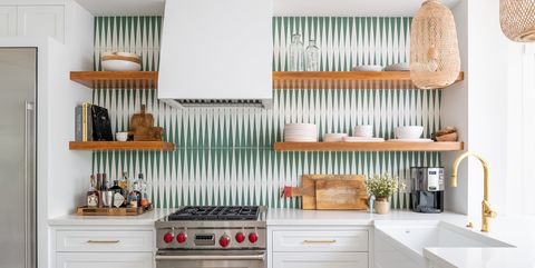 Creative Geometric Kitchen Backsplashes - Geometric ...