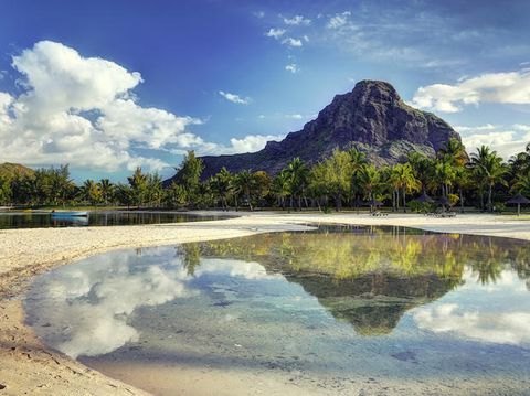 Sky, Natural landscape, Reflection, Mountain, Nature, Mountainous landforms, Water, Water resources, Cloud, Wilderness,