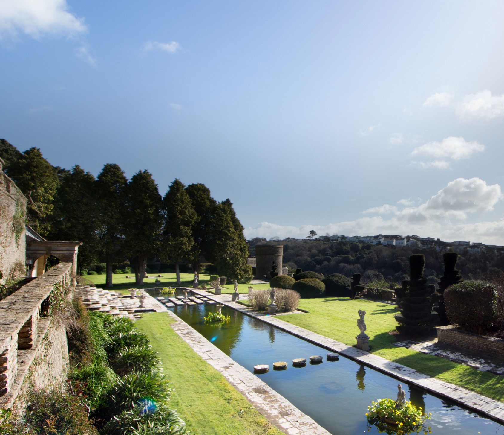 Mediaeval meets modern at this superb Devon fortress on a hill