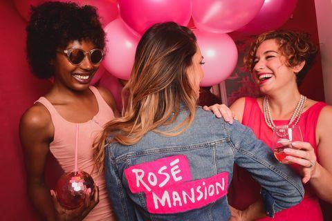 Pink, Red, Eyewear, Magenta, Fun, Event, Party, Glasses, Smile, Leisure,