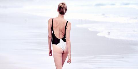 Skin, Beauty, Sky, Summer, Vacation, Standing, Sea, Leg, Fashion, Swimwear,