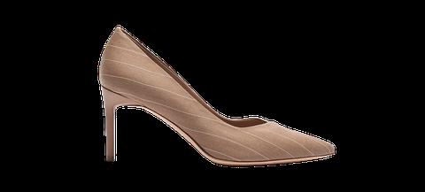 Footwear, High heels, Court shoe, Shoe, Beige, Brown, Basic pump, Leather, Bridal shoe, Fawn,