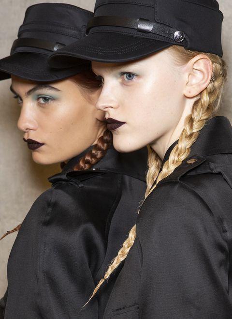 Beauty, Hat, Lip, Fashion, Headgear, Fashion accessory, Black hair,