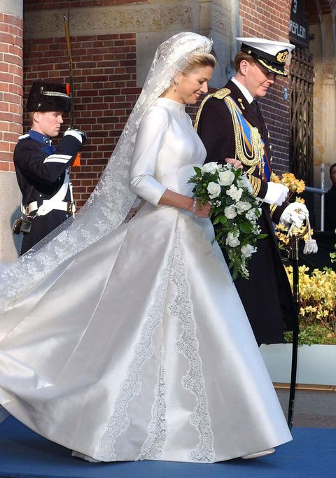 Máxima in trouwjurk