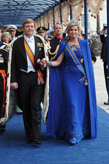 Máxima de Holanda el día de su coronación