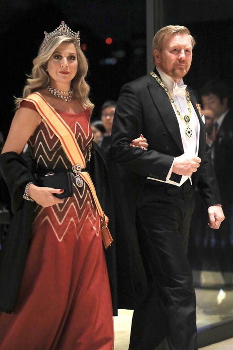 Máxima y Guillermo de Holanda en la cena de gala de la entronización de Naruhito en Japón