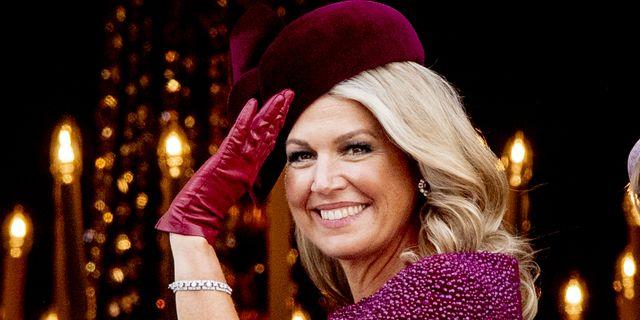 Máxima de Holanda, espectacular con su vestido capa en el 'Día del Príncipe'